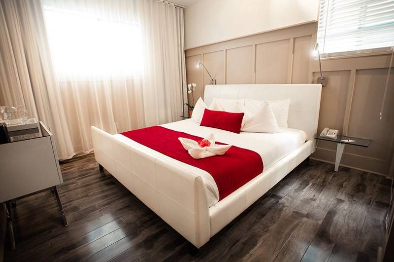 Double Room Red Bed
